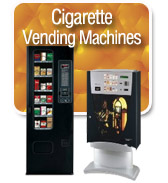 cigarette vending machines on display